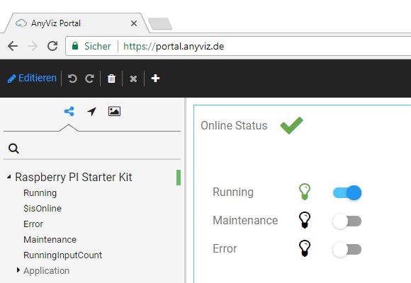 Raspberry Pi mit Web HMI bedienen
